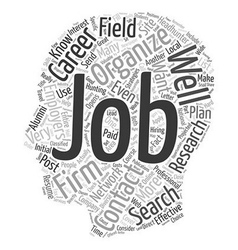 Strategies for an Effective Job Search to Get You vector image vector image