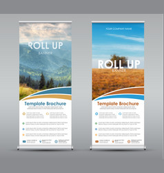 template universal roll up banner for business or vector image