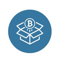 bitcoin wallet icon vector image vector image