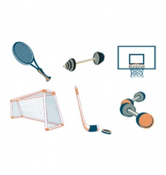 sport elements vector image
