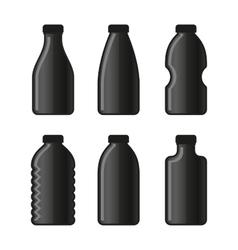 Water Bottle Icon Set on White Background vector image