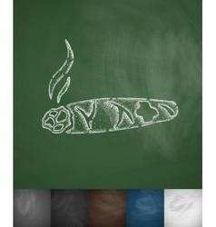 cigar icon vector image vector image