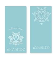 Design for yoga studio vector image vector image