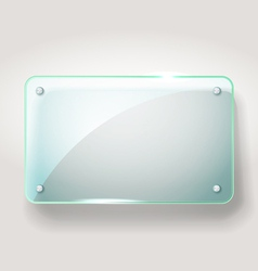 Glass advertising board vector image vector image