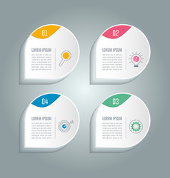 infographic design business concept with 4 options vector image