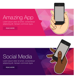 presentation template of mobile screen vector image