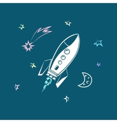 Rocket Forward to Success vector image vector image