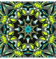 Set of Ornament round mandalas Geometric circle vector image vector image
