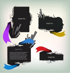 text frames vector image vector image