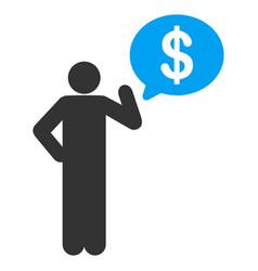 businessman idea flat icon vector image vector image