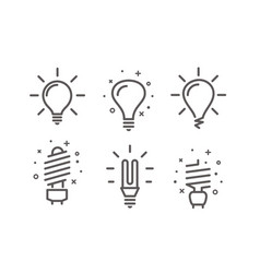 Different modern lightbulb icons set isolated on vector