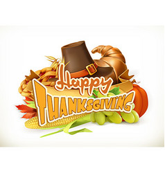 Happy Thanksgiving Invitation Greeting card 3d vector image