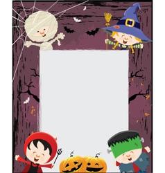 Kids Halloween Message vector image