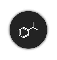 molecule icon simple vector image vector image