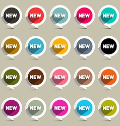 New Circle Labels Set vector image