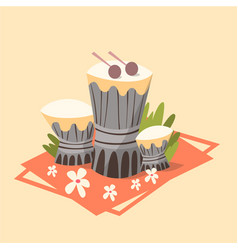 tamtam icon summer sea vacation concept summertime vector image