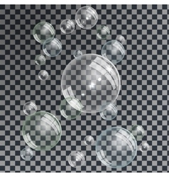Water Bubbles set vector image vector image
