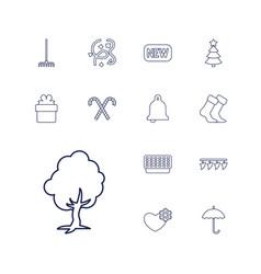13 season icons vector