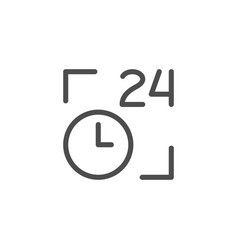 24 hours line icon vector image