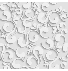 3d seamless floral background vector