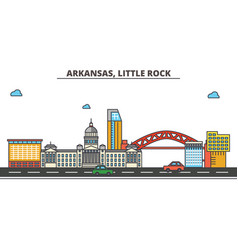 Arkansas little rockcity skyline architecture vector
