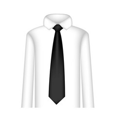 Black tie with shirt icon vector