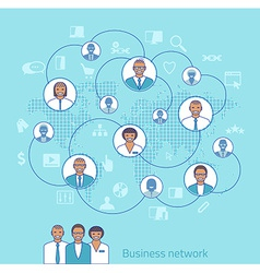 Business network Concept of management vector image