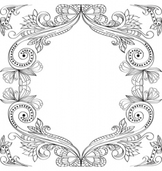 Card with vintage floral ornament vector