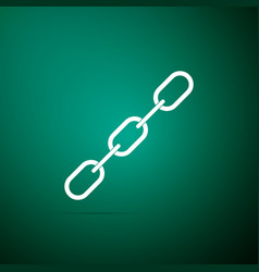 chain link icon on green background link single vector image