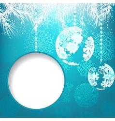 Christmas balls with ornament EPS8 vector image