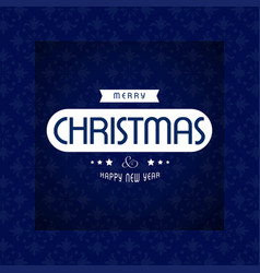 Christmas card with blue pattern background and vector