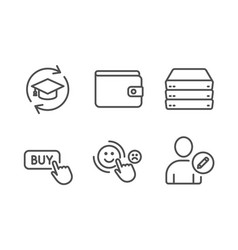 Continuing education buy button and customer vector