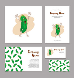 corporate branding cheerful vegetable in cartoon vector image