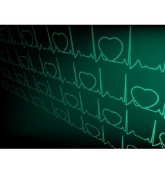 ECG tracing monitor vector image