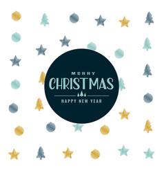 elegant christmas pattern background design vector image