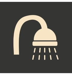 Flat in black and white mobile application shower vector
