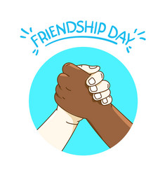 Friendship day concept with shaking hands vector