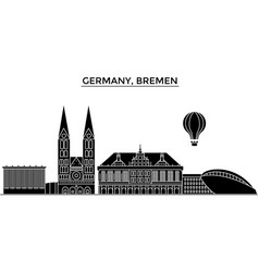 Germany bremen architecture city skyline vector
