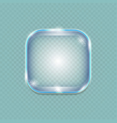 glass transparent glossy banner vector image