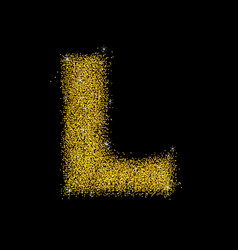 gold dust font type letter l vector image