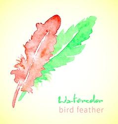 Hand drawn beautiful stylish ethnic feathers vector