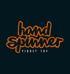 Handwritten emblem hand spinner vector