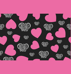 Happy valentines day hand drawing seamless vector