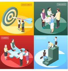 Isometric success design concept vector