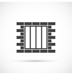 Jail icon vector image