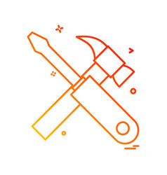 labour tools icon design vector image