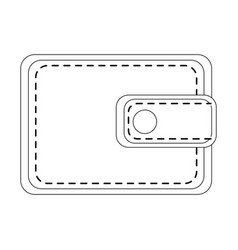 Leather wallet for man vector