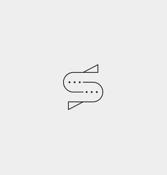 Letter s chat template logo design vector