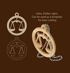 libra zodiac signs can be used as a template for vector image