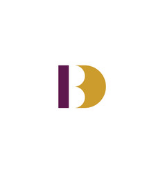 logo letter b and d bd logotype icon vector image